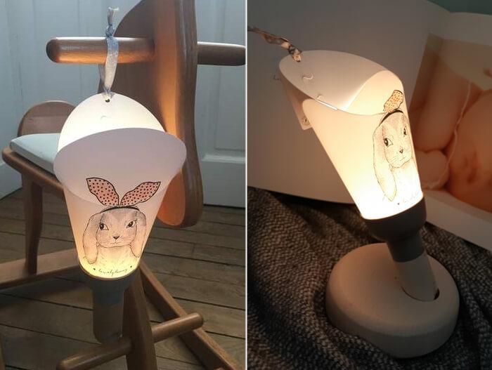 illustratori Pipouette e Zü per lampada
