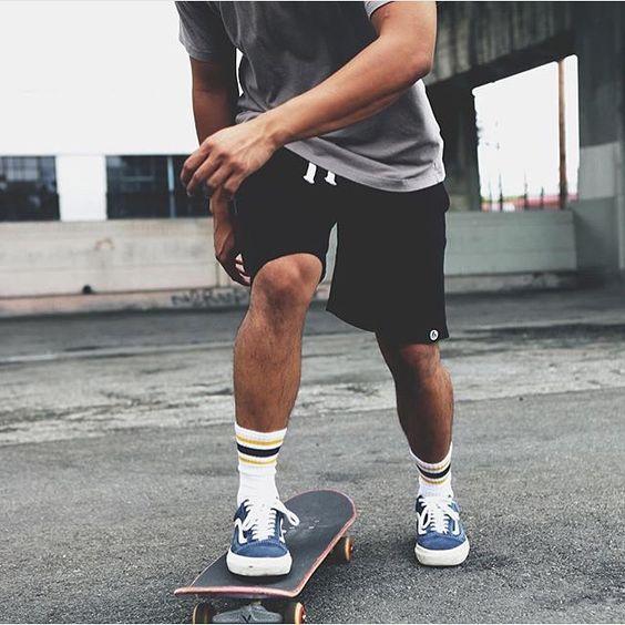 look masculino skatista