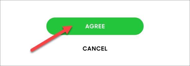 توافق على Spotify الشروط