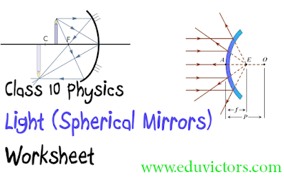 CBSE Class 10 Physics - Light (Spherical Mirrors) - Worksheet (#eduvictors)(#cbsenotes)