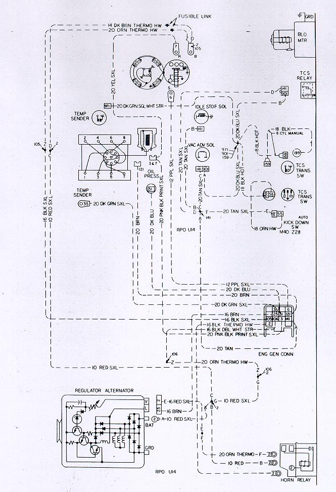 Free Auto Wiring Diagram: Chevrolet Camaro Z28 Engine Harness Electrical System Diagram