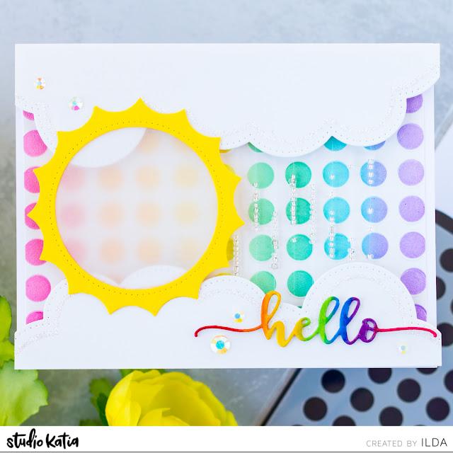 DIY Rain Maker Shaker Interactive Card and Video for Studio Katia by ilovedoingallthingscrafty.com
