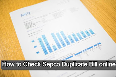 Sepco online bill 2021- How to Check Sepco Duplicate Bill online and Download