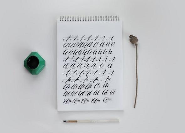 el arte de la caligrafía, letra bonita, plantillas gratis de caligrafía