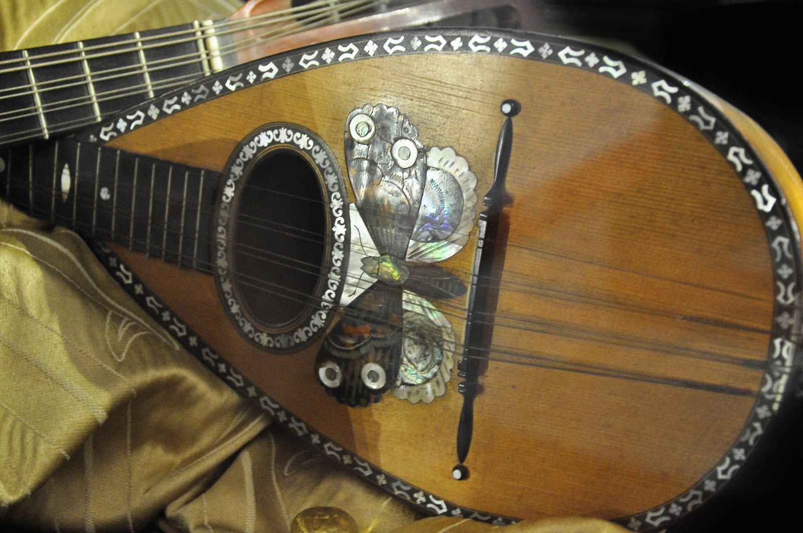 A close-up of a mandolin, Museum of the Music, Venice, Italy