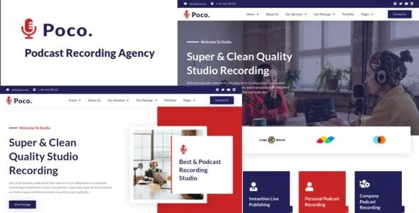 Best Podcast Recording Studio Services Elementor Template Kit