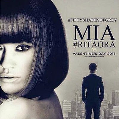 Fifty shades of gray: Rita Ora at the new poster for the film