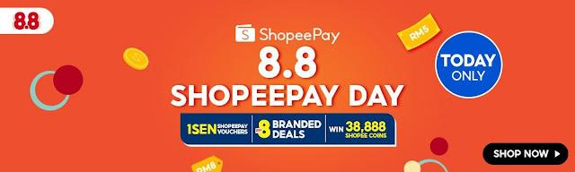 ShopeePay Day on 1 August On Shopee 8.8 Brands Festival