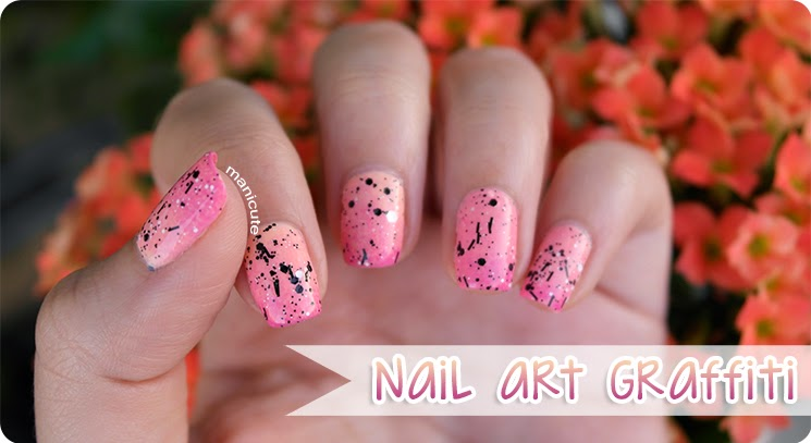 astor play the graffiti ombre nails