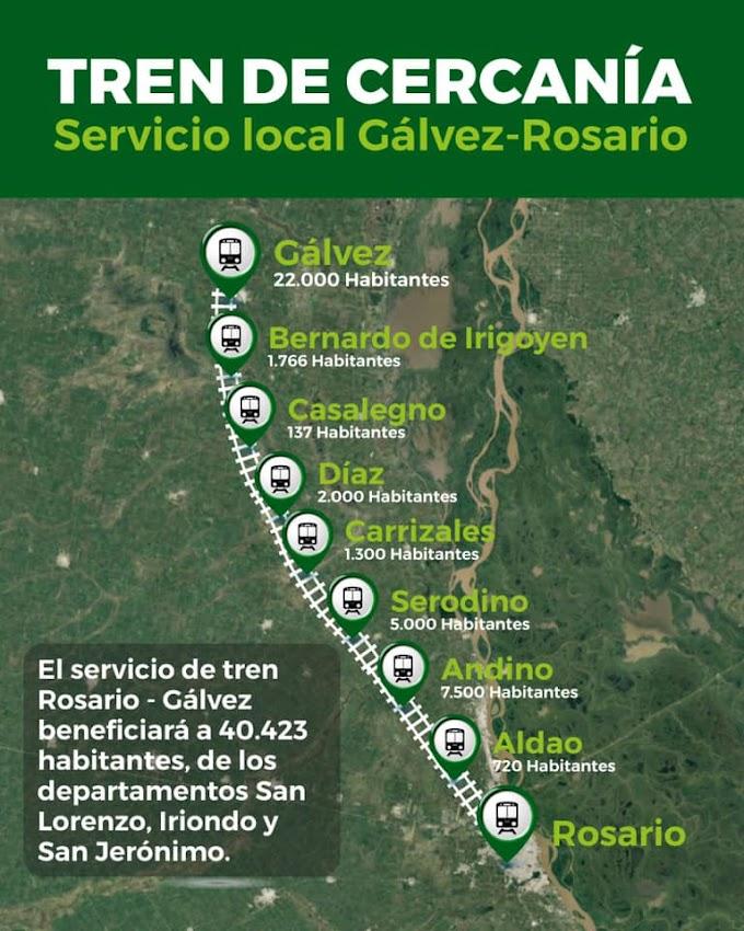 Drovetta convocó a las comunas del ramal para pedir el local Rosario - Gálvez