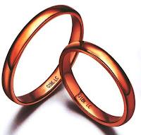 Cincin nikah emas sederhana