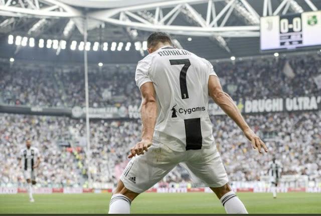 Cristiano Ronaldo trademark celebration