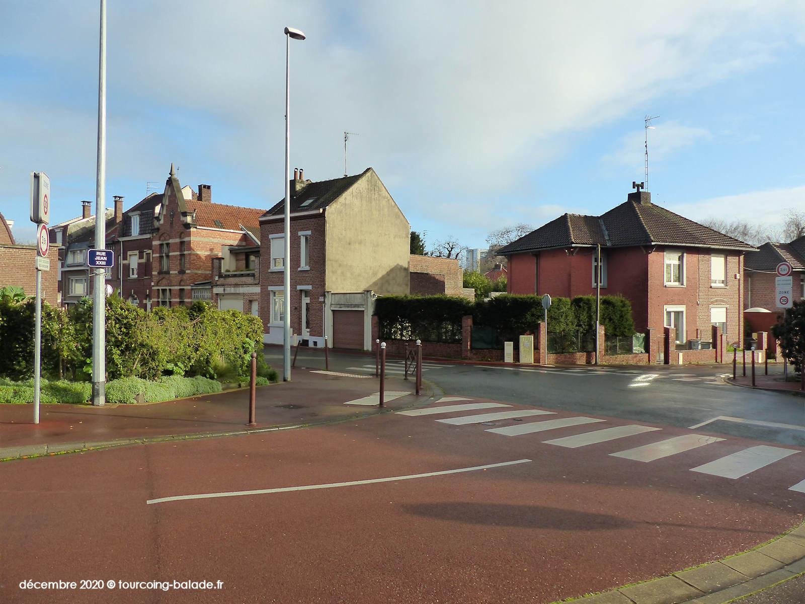 Rue Jean XXIII, Tourcoing 2020