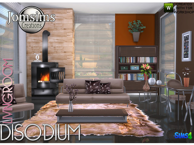 Living room Disodium Гостиная Динатрий для The Sims 4 диван. диванные подушки живой стул. подушка живое кресло. настенные росписи. камин 2 кофейных столика. 1 обеденный стол 1 обеденный стул. 1 funcure misc deco. найти в категории misc deco. Всегда угол Уютный, удобный, современный, со смесью стиля. также для гостиной. счастливого симминга! Автор: jomsims