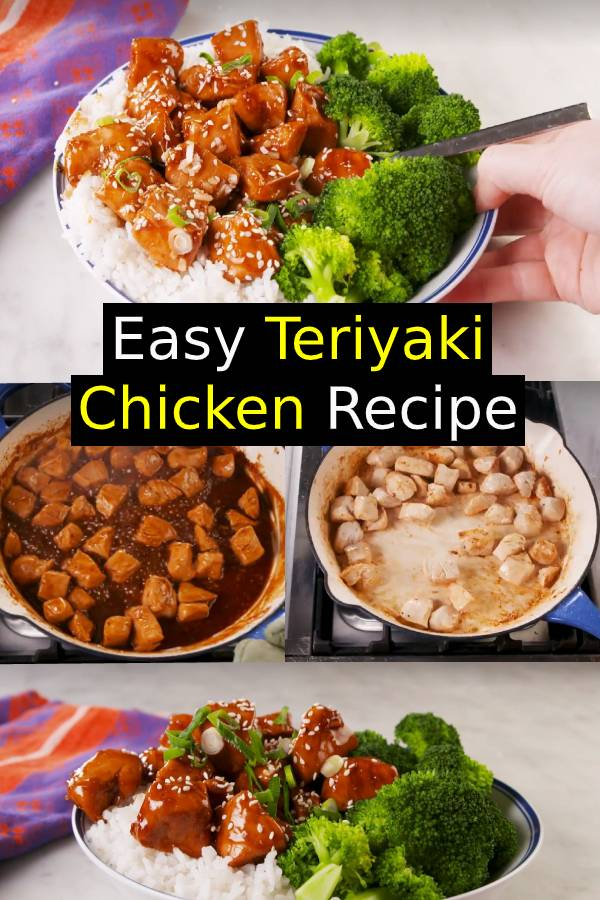 Easy Teriyaki Chicken Recipe | A little salty, a little sweet, a little sour, and just the tiniest hint of spice from minced ginger: This chicken teriyaki is exactly what you'd want for dinner after a long day at work. #chicken #teriyakichicken #dinner #dinnerrecipe #maindish #teriyaki
