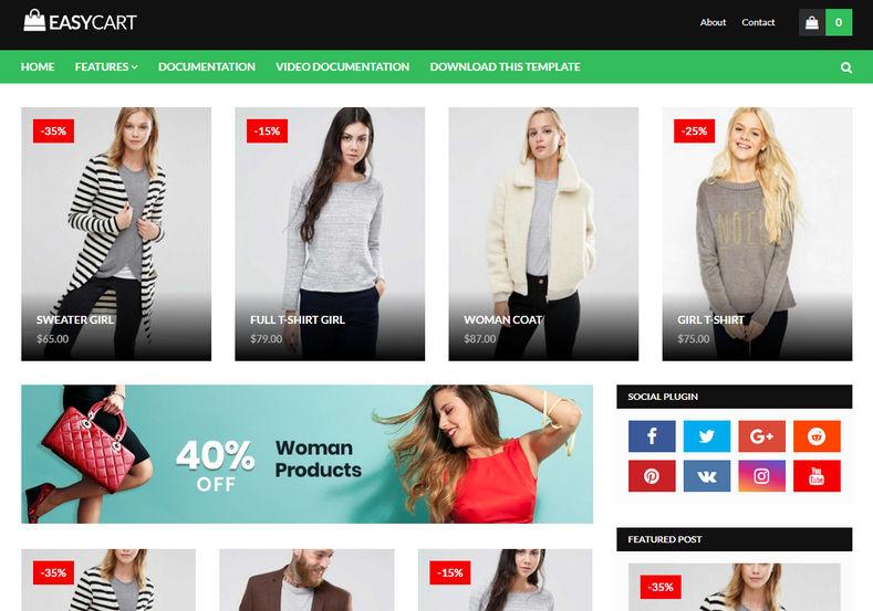Easy-Cart Premium Blogger Template