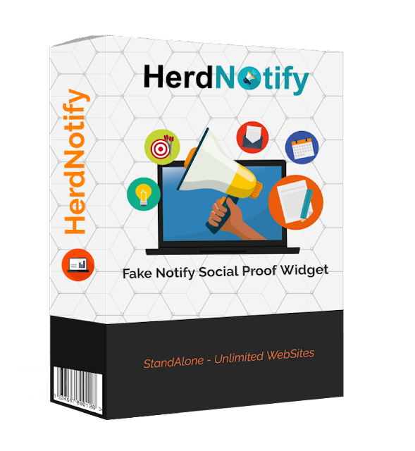 [HerdNotify] Fake Notify Social Proof Widget [StandAlone - Unlimited WebSites]