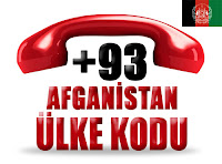 +93 Afganistan ülke telefon kodu
