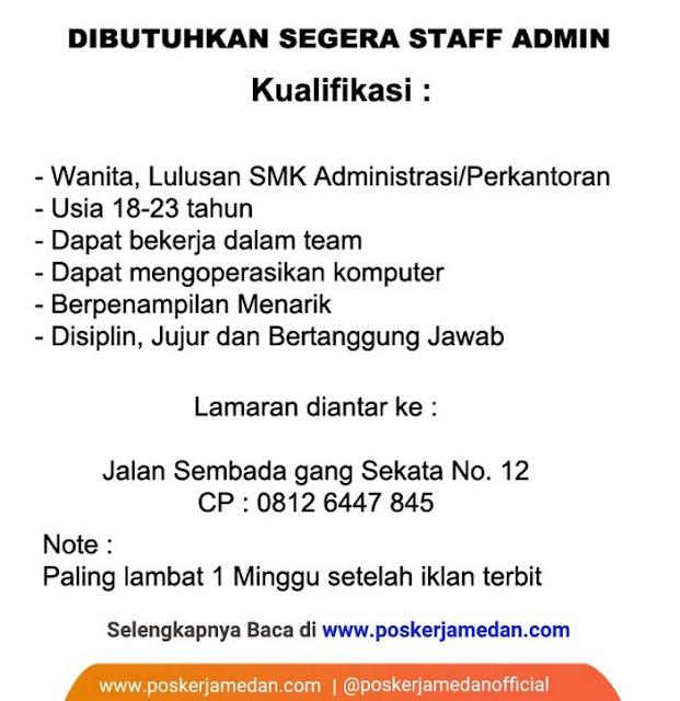 Contoh Iklan Lowongan Pekerjaan Staff Admin