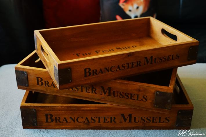 Market Vintage Style Wooden Storage Trays