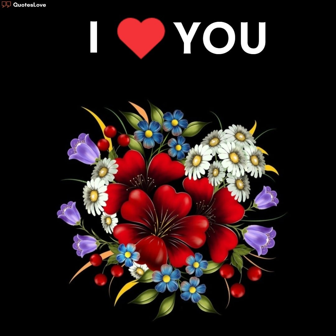 i love you images with flowers