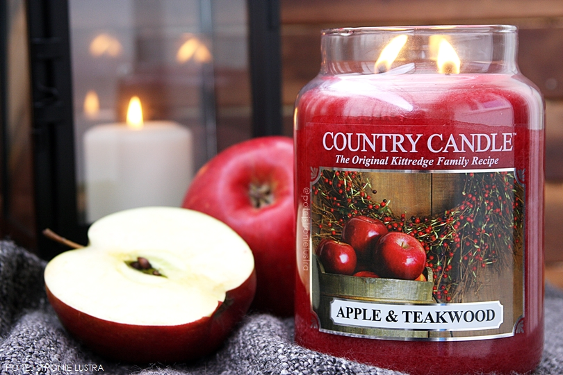 jesienna świeca apple & teakwood country candle