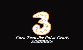 Cara Transfer Pulsa 3 Ke 3 Gratis Terbaru 2019