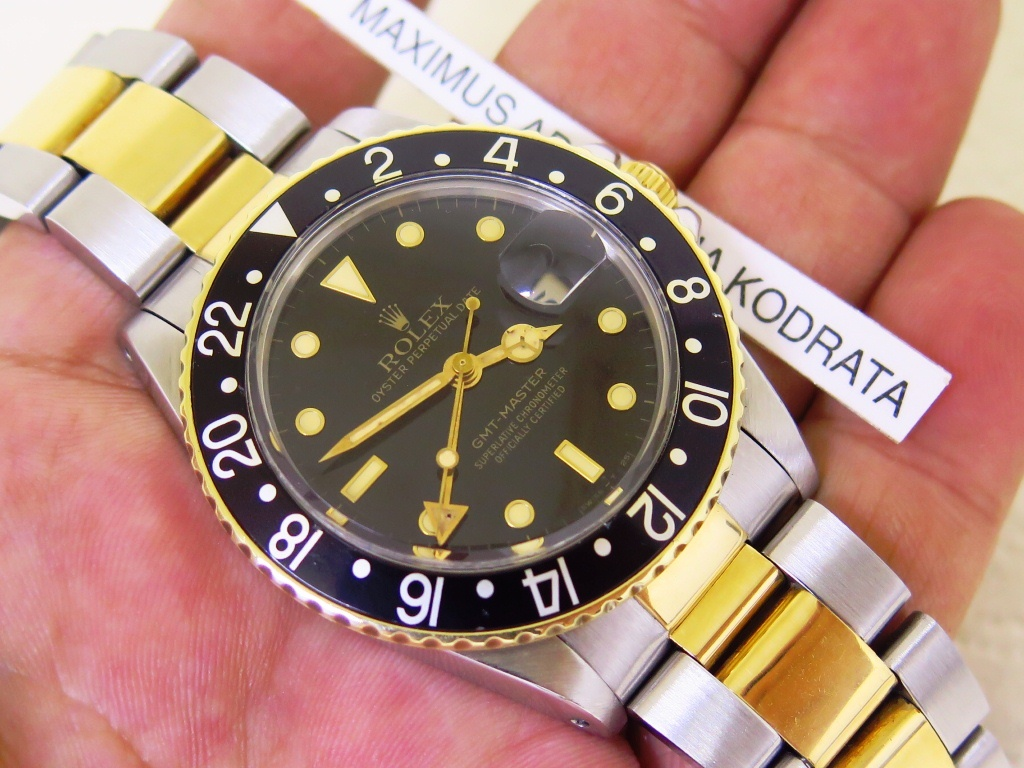 ROLEX GMT MASTER TWO TONE - ROLEX 16753 TWO TONE