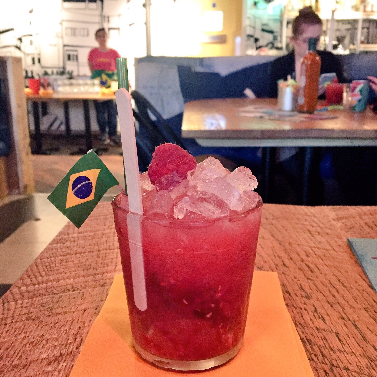 Raspberry cocktail at Cabana Brasil, Trinity Leeds