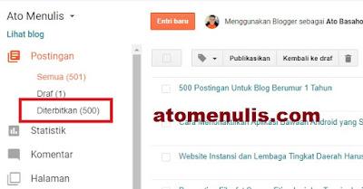500 Postingan Untuk Blog
