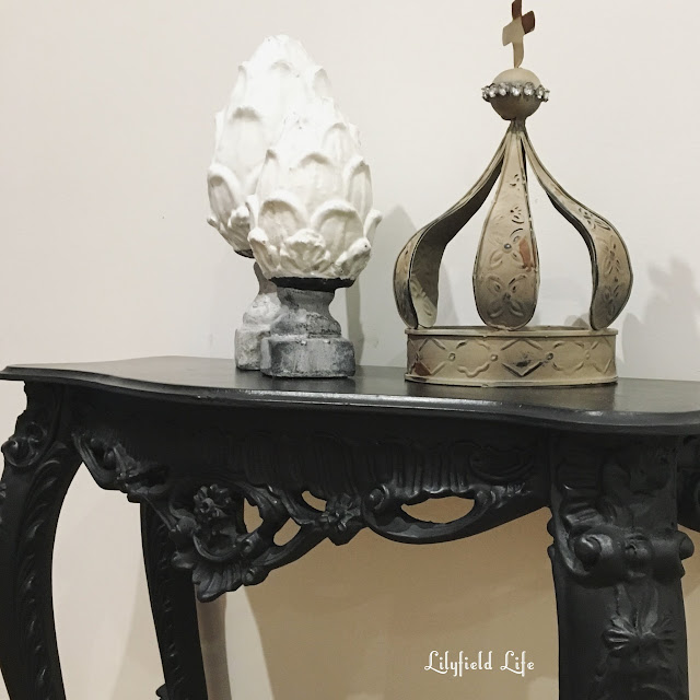 beautiful hand painted vintage console tables - perfect for your hallway. by Lilyfield life