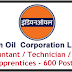 IOCL Recruitment 2020 Accountant Technician and  Trade Apprentices