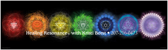 Chakra Healing Love denotes Kristi's love-based interpretation of healing energy for each of the seven major chakras.