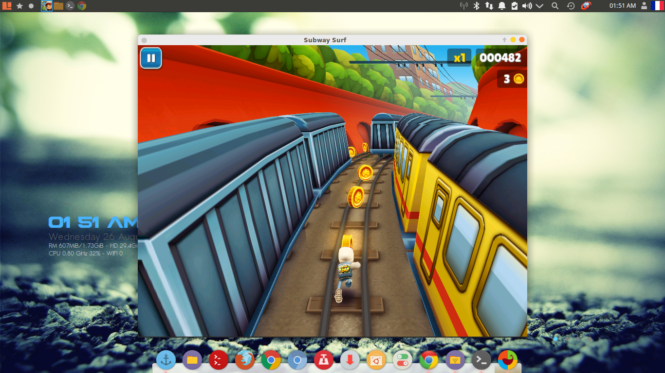 طريقة تشغيل لعبة subway surfers على لينكس - أكاديمية