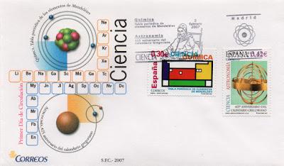 Sobre PDC del sello de la Tabla Periódica y el Calendario Gregoriano de 2007