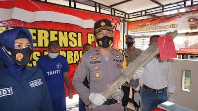 Polres Purbalingga Mengamankan Pelaku Pengroyokan Pedagang Buah Bobotsari