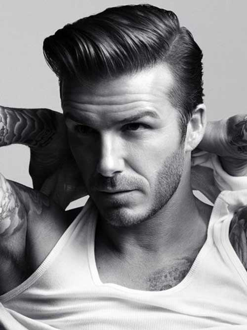 David Beckham Pompadour Hair
