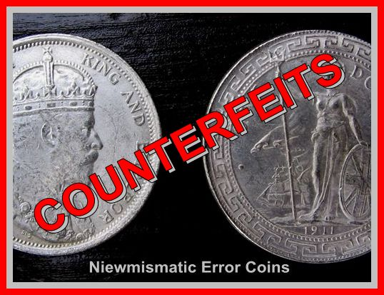 COUNTERFEITS SILVER COINS ON STRAITS SETTLEMENTS AND BRITISH TRADE