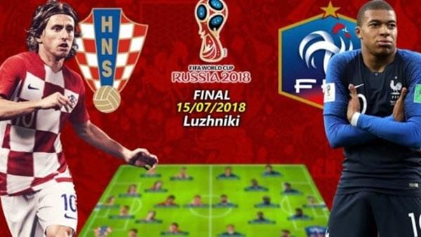 بث مباشر حصريا لمباراة كرواتيا ضد فرنسا كاس العالم 2018