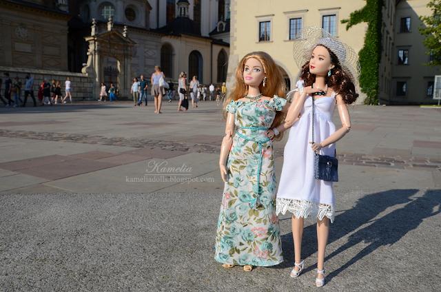 White summer dress for Barbie doll