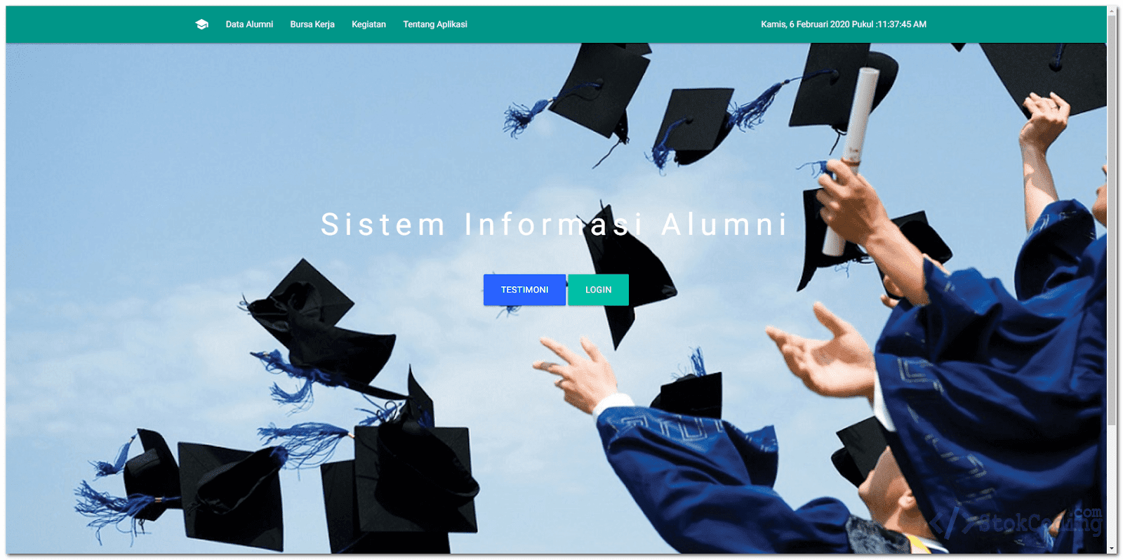 Sistem Informasi Alumni Berbasis Web (Codeigniter)
