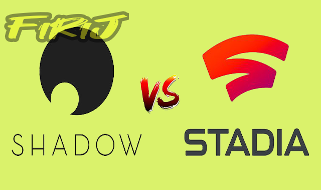 Comparaison de Google Stadia contre Shadow