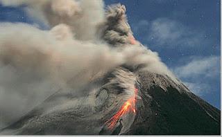 Proses pembentukan gunung merapi