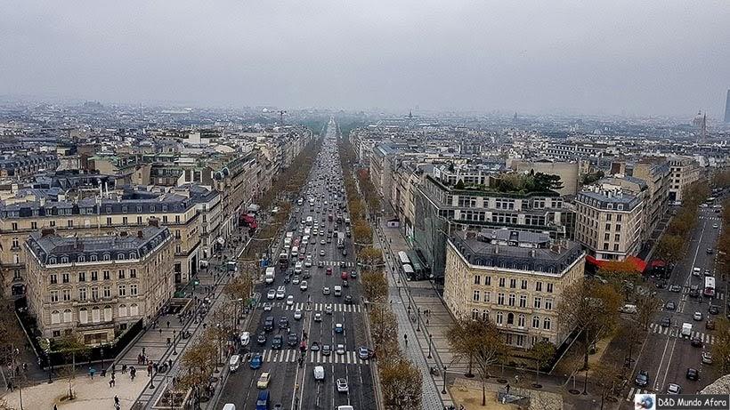 Vista de Paris do Arco do Triunfo - O que fazer em Paris: principais pontos turísticos