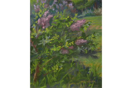 In The Land Of Lilacs, 10x8 inches, En Plein Air