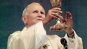 St. John Paul II celebrating Mass