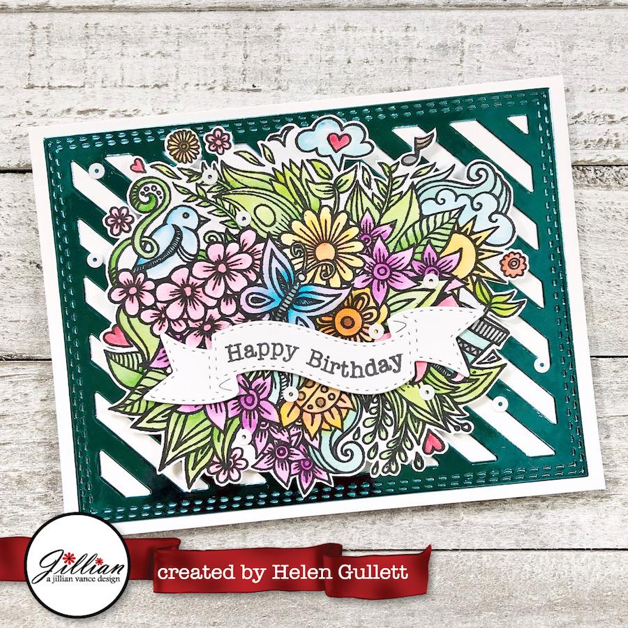A Jillian Vance Design A Watercolored Flower Bouquet Birthday Card