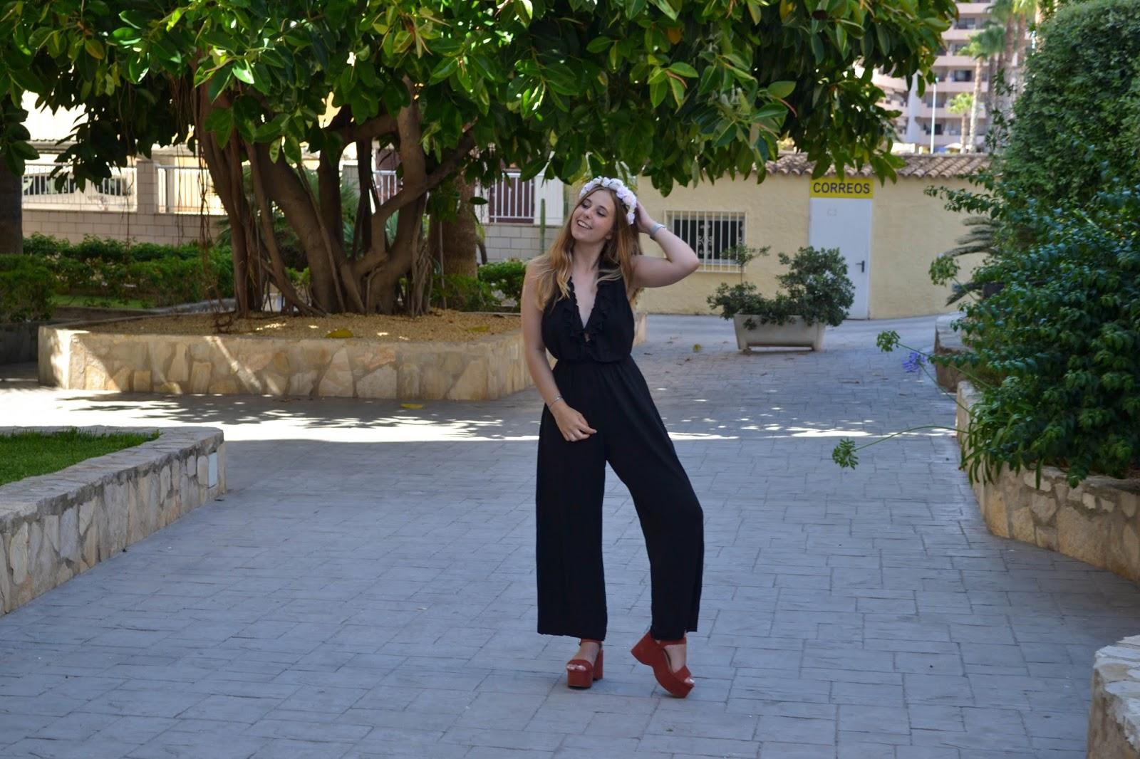 Combinaison noire Zara - Raspberrylipstick