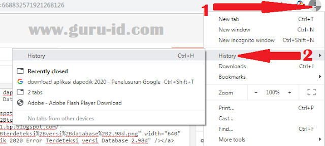 cara hapus browser google chrome