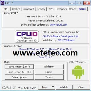 Download cpu z latest version 2020